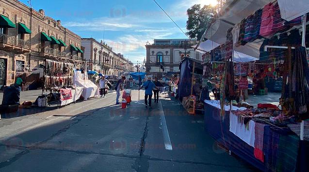"""Plantón, un """"freno"""" para economía del centro de Morelia: Covechi"""