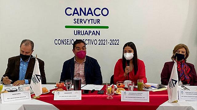 Gobierno municipal busca la reactivación económica en Uruapan