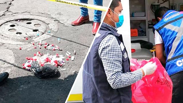 Desechan residuos peligrosos en el centro de Morelia, SSM los resguarda