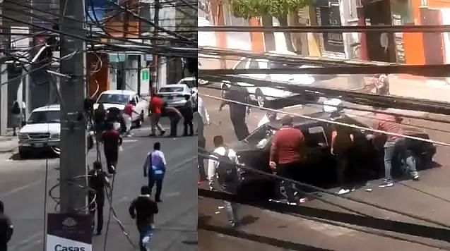Vinculan a proceso a centistas que destrozaron auto en manifestación en Morelia