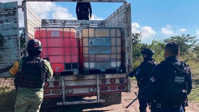 Aseguran en Tarímbaro más de 5 mil litros de huachicol