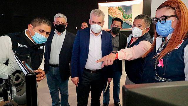 Supervisan Bedolla y Secretario de Seguridad operatividad del C5i en Michoacán