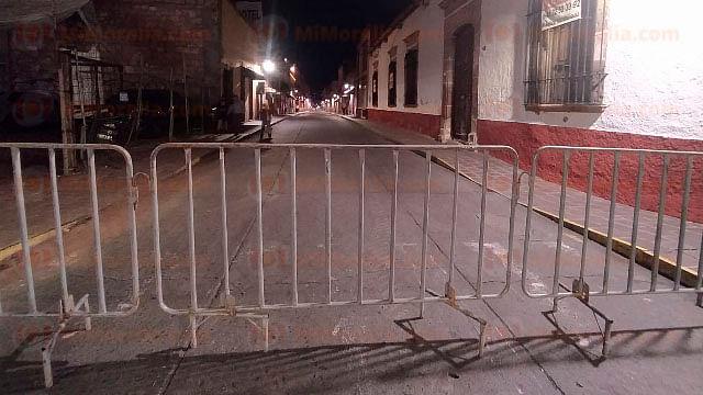 Centro Histórico de Morelia con cierre de calles ante visita de AMLO