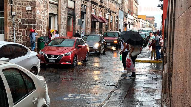 Continuarán los nublados y la lluvia en Morelia