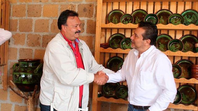 Monroy García se declaró amigo del presidente y comprometido con el desarrollo del este municipio