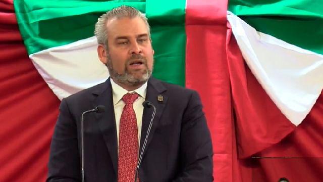 Alfredo Ramírez Bedolla, recuento de la toma de protesta como gobernador