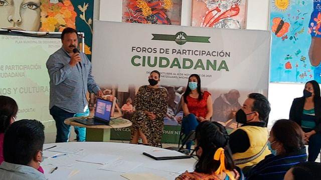 Inaugura presidente de Pátzcuaro Foros de Participación Ciudadana
