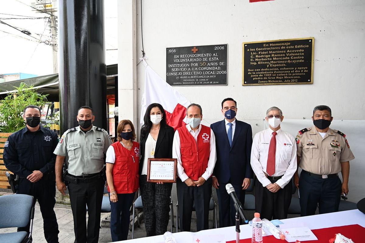 Edil de Zamora pone en marcha Colecta Anual de la Cruz Roja Mexicana