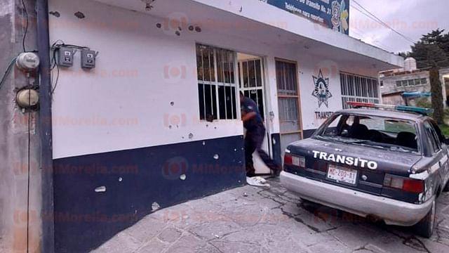Atacan base de la Policía en Tlalpujahua; hay 3 muertos