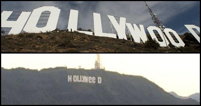El letrero de Hollywood relacionado con la mariguana