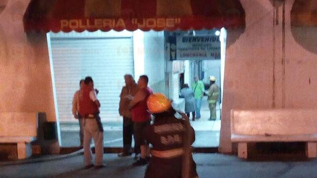 Ocurre fuga de gas en el Mercado de la Charanda, en Uruapan