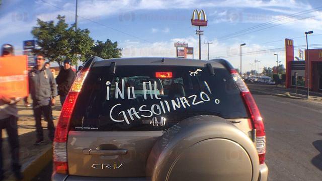 Continúan las manifestaciones en Morelia en contra del gasolinazo