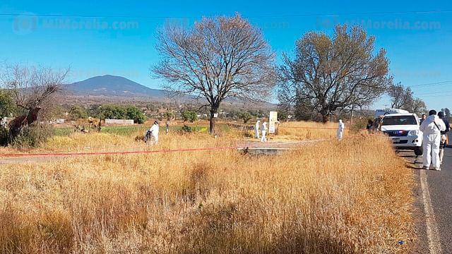 Localizan hombre muerto a tiros en Tiripetío