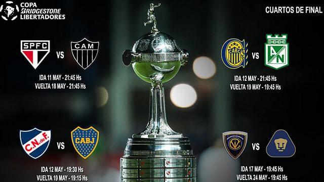 Quedaron definidos los horarios para los Cuartos de Libertadores
