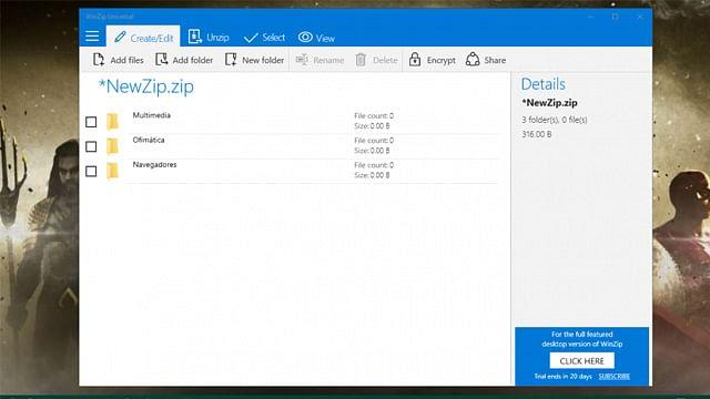 WinZip ya cuenta con su aplicación universal para Windows 10