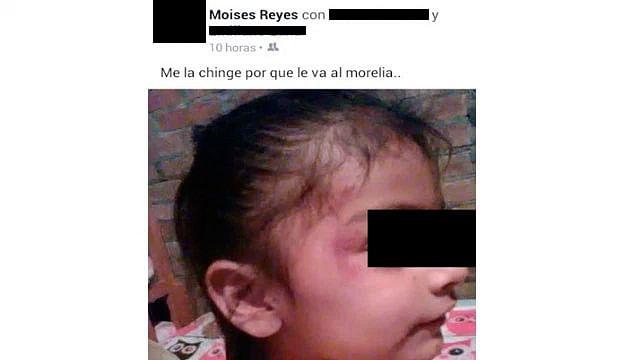 Padre exhibe foto de su hija y dice haberla golpeado por irle al Morelia