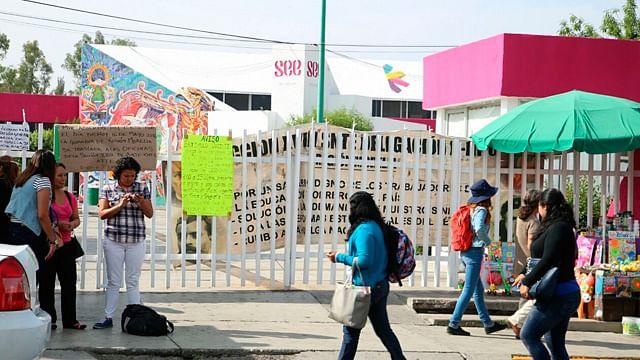 CNTE mantiene tomadas las oficinas de la SEE en Morelia