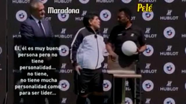 """Video: """"No tiene mucha personalidad como para ser líder"""" captan a Maradona criticando a Messi"""