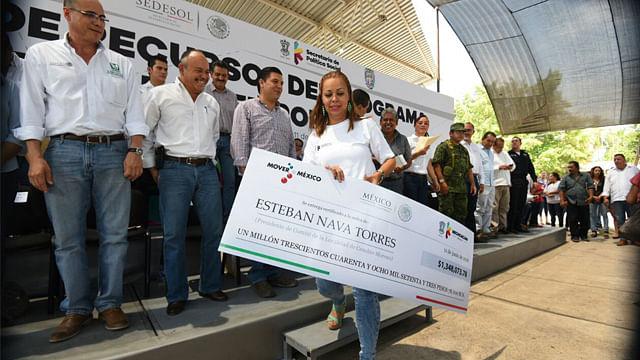 <br /> Se entregó más de un millón de pesos para Empleo Temporal (Foto: ACG)
