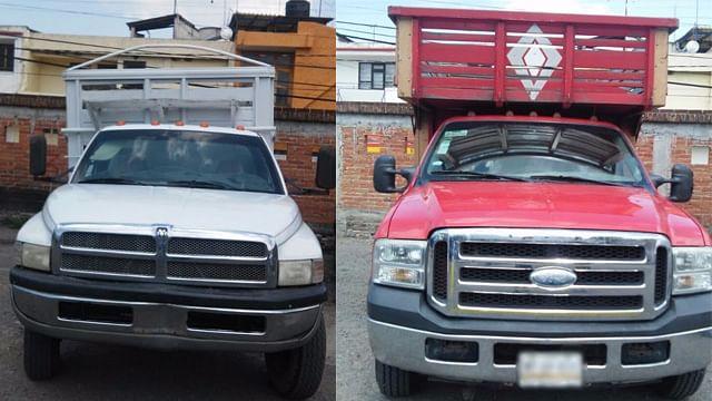 El combustible estaba en contenedores de dos camionetas (Foto: SSP)