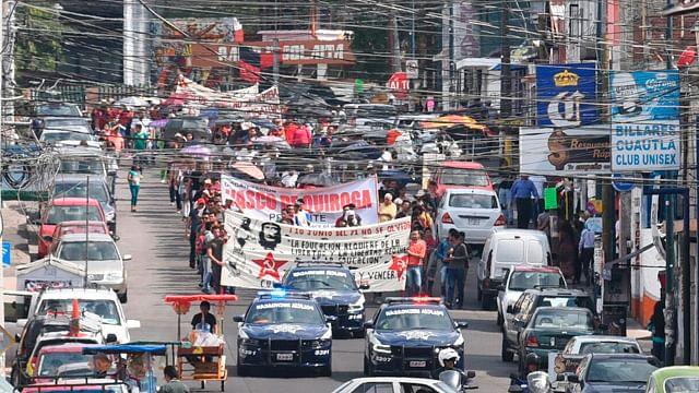 Marcha CUL de CU a Palacio de Gobierno
