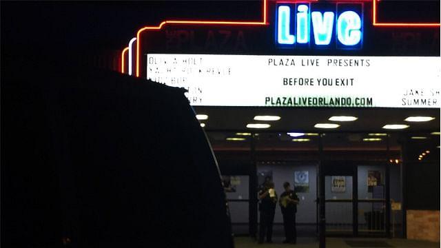 El lamentable suceso fue la noche del viernes en el Teatro The Plaza Live (Foto: @OrlandoPolice)