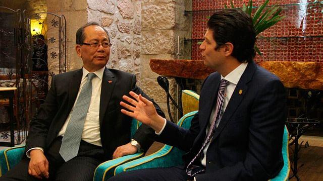 El Jefe de la Comuna Moreliana, externó su beneplácito por la presencia del Embajador, Qiu Xiaoqi