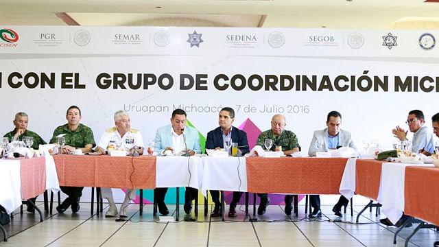 Revisa Grupo de Coordinación Michoacán estrategias de seguridad en Uruapan