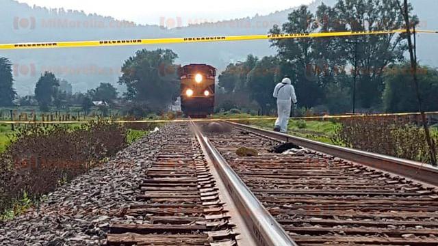 Hombre fallece al ser arrollado por el tren, en Pátzcuaro
