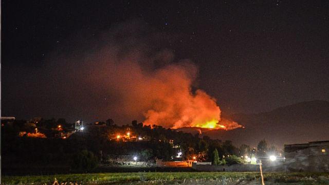 Tras 24 horas, habría 120 hectáreas afectadas en incendio en cerro de la caja de Zacapu
