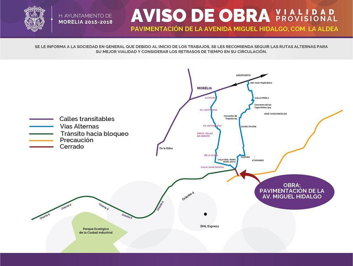 A buen ritmo avanza repavimentación de la avenida Miguel Hidalgo