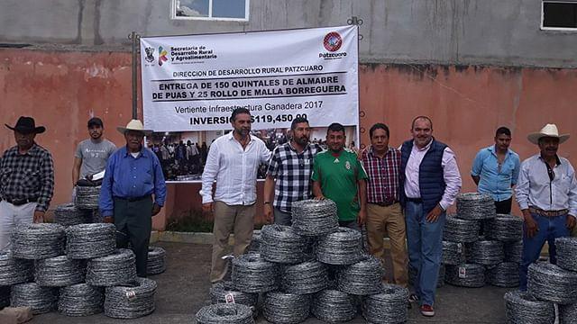 Impulsan Sedrua y ayuntamiento 42 proyectos agropecuarios en Pátzcuaro