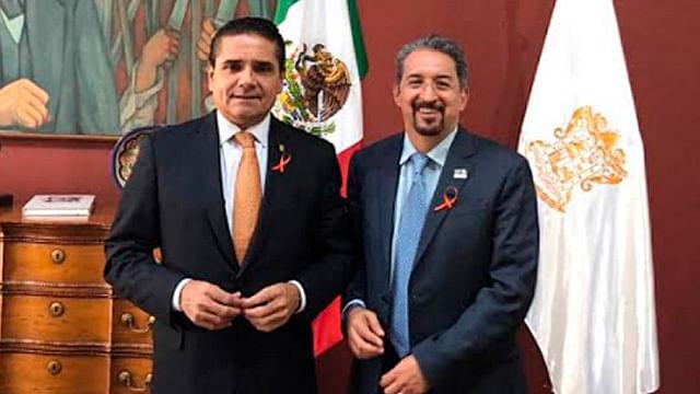 Se reúne Medardo Serna con Silvano Aureoles para gestionar recursos