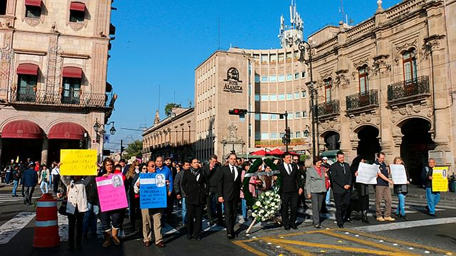 Sindicatos de la UMSNH boicotean acto conmemorativo de Ocampo