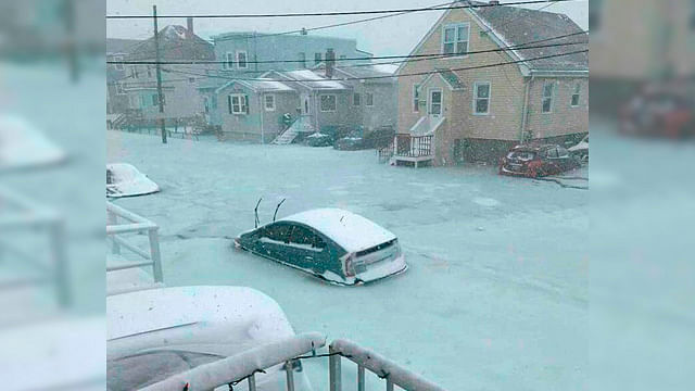 Calles de Boston se congelan