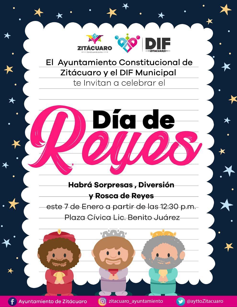 Zitácuaro alista celebración del Día de Reyes el próximo domingo