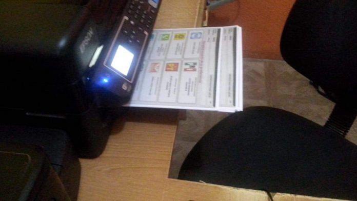 Cibercafé imprimía boletas apócrifas en Chiapas
