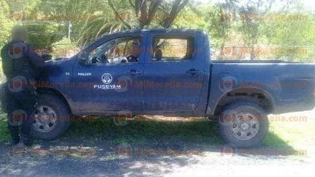 Aseguran pistola y detienen a cuatro jóvenes tras persecución en Huandacareo