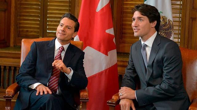 Peña Nieto y Trudeau discuten sobre renegociación del TLCAN