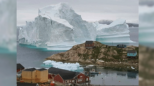 Colosal iceberg podría acabar con aldea de Groenlandia
