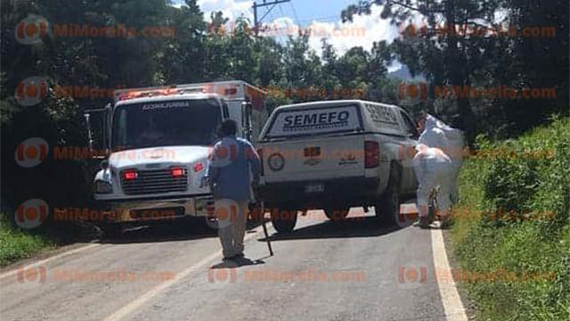 Muere niño de seis años al ser atropellado por un camión volteo en Uruapan