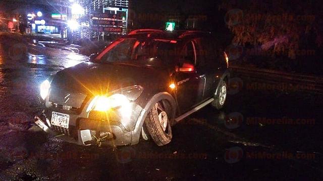 Choca vehículo en el Periférico República; no hay heridos