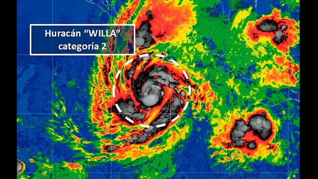 """""""Willa"""" evoluciona a huracán categoría 2"""