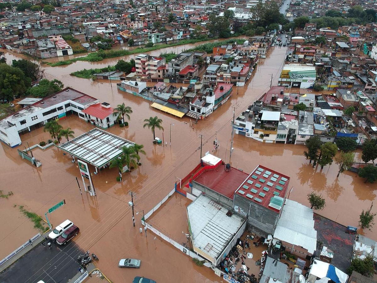 Apoya SSP en labores de auxilio por lluvias en Morelia