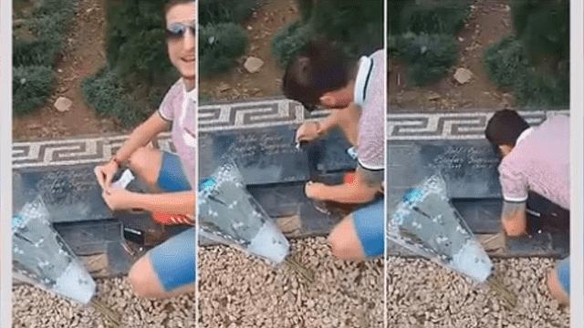 Hombre se graba inhalando cocaína en tumba de Pablo Escobar