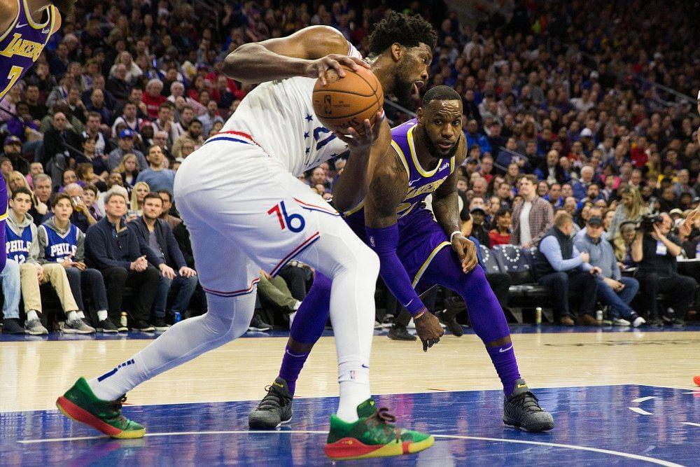 James y Kuzma no pudieron evitar caída de los Lakers frente a 76ers