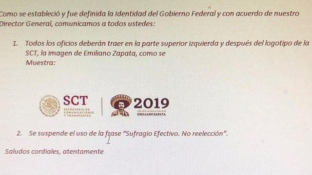 """Filtran supuesta eliminación de frase """"sufragio efectivo, no reelección"""""""