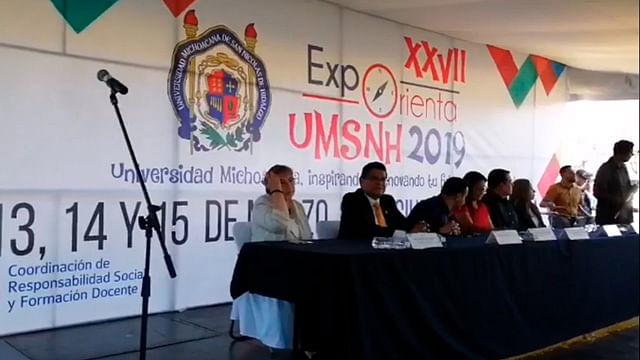 (Fotograma Facebook: Universidad Michoacana de San Nicolás de Hidalgo)