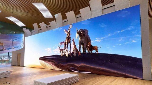La nueva pantalla de Sony mide casi 20 metros y es resolución 16K