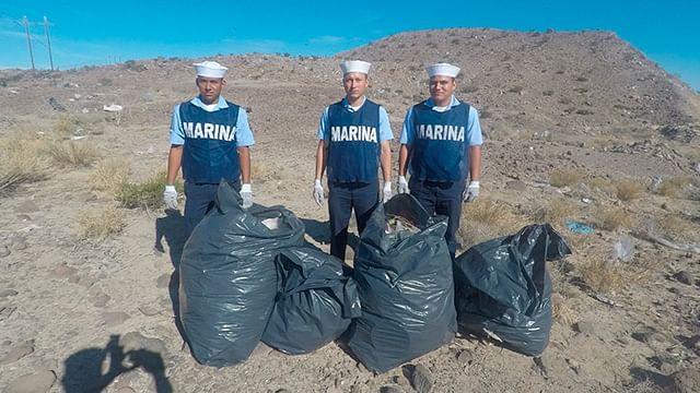 Se efectuó una jornada de limpieza en Baja California Sur (Foto: cortesía)
